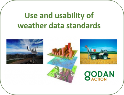 Weather data standards analysis