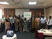 Participants in a one-day workshop on 'Open Data in Agriculture and Nutrition' held at AODC, Accra, Ghana, 2017